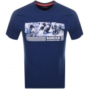 Barbour International Logo T Shirt Blue