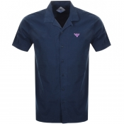 Product Image for Barbour Beacon Short Sleeved Acton Shirt Navy