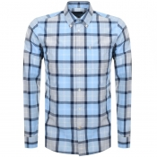 Barbour Long Sleeved Burnside Shirt Blue
