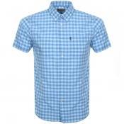 Barbour Short Sleeved Gingham Shirt Blue