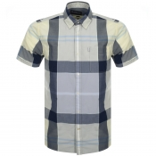 Barbour Short Sleeved Croft Shirt Yellow