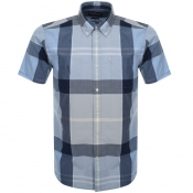 Barbour Short Sleeved Croft Shirt Blue