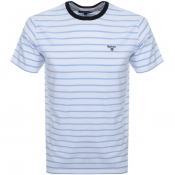 Barbour Portree Stripe Logo T Shirt White