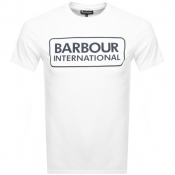 Product Image for Barbour International Large Logo T Shirt White
