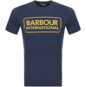 Barbour International Large Logo T Shirt Navy