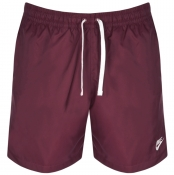 Nike Flow Logo Swim Shorts Burgundy