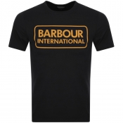 Barbour International Large Logo T Shirt Black