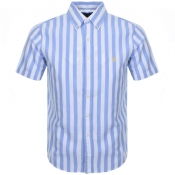 Ralph Lauren Short Sleeved Custom Fit Shirt Blue
