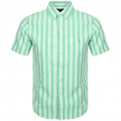 Product Image for Ralph Lauren Short Sleeved Custom Fit Shirt Green