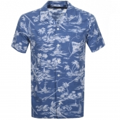 Ralph Lauren Floral Short Sleeve Shirt Blue