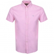 Product Image for Barbour Short Sleeved Oxford Logo Shirt Pink
