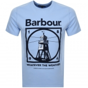 Barbour Tarbert Logo T Shirt Blue