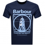 Barbour Tarbert Logo T Shirt Navy