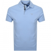 Barbour Pique Polo T Shirt Blue