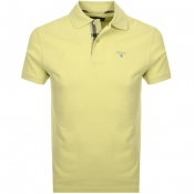 Barbour Pique Polo T Shirt Yellow