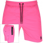 Luke 1977 Holiday Game Swim Shorts Pink