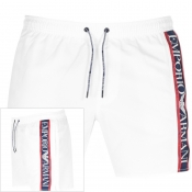 Emporio Armani Taped Swim Shorts White