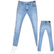 Superdry Straight Daman Denim Jeans Blue