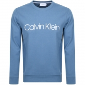 Product Image for Calvin Klein Logo Crew Neck Sweatshirt Blue