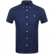 Product Image for Lyle And Scott Short Sleeved Poplin Shirt Navy