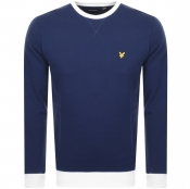 Product Image for Lyle And Scott Contrast Sweatshirt Navy