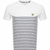 Product Image for Lyle And Scott Breton Stripe T Shirt White