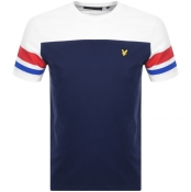 Product Image for Lyle And Scott Contrast Band T Shirt Navy