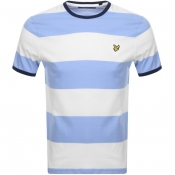 Product Image for Lyle And Scott Wide Striped Ringer T Shirt White