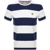 Lyle And Scott Wide Striped Ringer T Shirt Navy