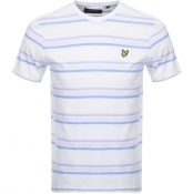 Lyle And Scott Multi Striped T Shirt White