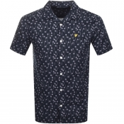 Lyle And Scott Short Sleeved Resort Shirt Navy