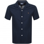Farah Vintage Short Sleeved Archie Shirt Navy
