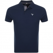 Barbour Pique Polo T Shirt Navy