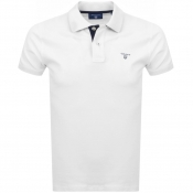 Gant Contrast Collar Rugger Polo T Shirt White