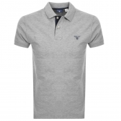 Gant Contrast Collar Rugger Polo T Shirt Grey