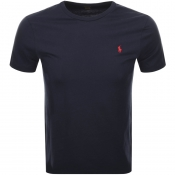 Ralph Lauren Crew Neck Custom Fit T Shirt Navy