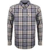 Product Image for Barbour Long Sleeved Tartan Check Shirt Grey
