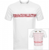 Product Image for Versace Collection Crew Neck Logo T Shirt White