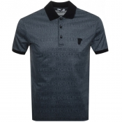 Product Image for Versace Collection Patterned Polo T Shirt Blue