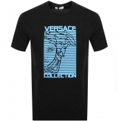 Product Image for Versace Collection Medusa Logo T Shirt Black