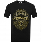 Product Image for Versace Collection Crew Neck Logo T Shirt Black