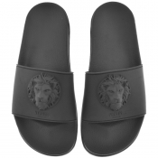 Versus Versace Logo Sliders Black