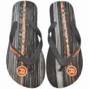 Superdry International Logo Flip Flops Black