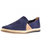 Sweeney London Ives Suede Espadrilles Navy