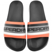 Superdry Retro Colour Block Logo Sliders Black