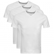 BOSS HUGO BOSS Triple Pack V Neck T Shirts White