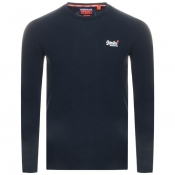 Product Image for Superdry Vintage Long Sleeved T Shirt Navy