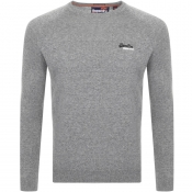 Superdry Orange Label Crew Neck Knit Jumper Grey
