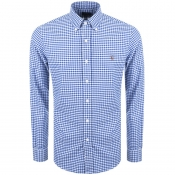 Ralph Lauren Slim Fit Gingham Shirt Blue