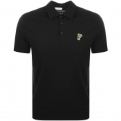 Product Image for Versace Collection Medusa Polo T Shirt Black